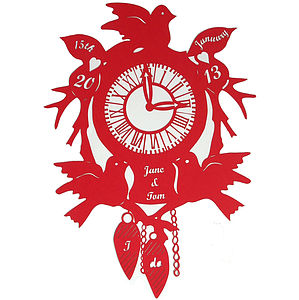 Wedding Cuckoo Clock Papercut
