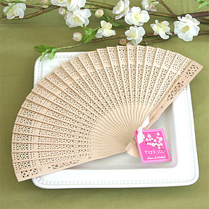 Sandalwood Fan Wedding Favours - unusual favours