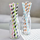 Pack Of 50 Striped Paper Straws