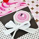 Set Of 24 Personalised Lollipop Favours