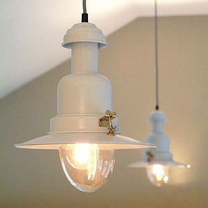 Vintage Fisherman Style Ceiling Light - bedroom