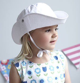 Cotton Toddler Sunhat With Ties