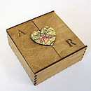 Bespoke Wooden Map Heart Box