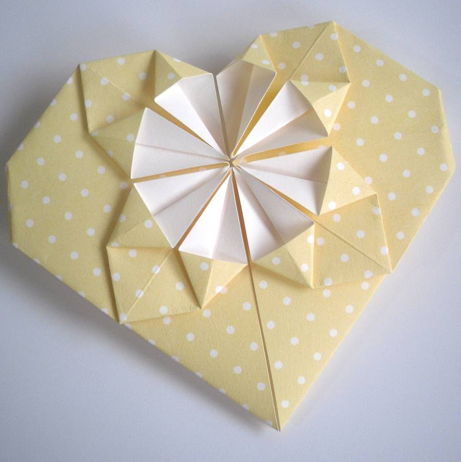 origami heart valentines day card by paperbuzz