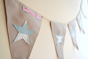 Applique Star Bunting
