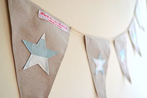 Applique Star Bunting - room decorations