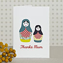 Russian Dolls Thank You Card