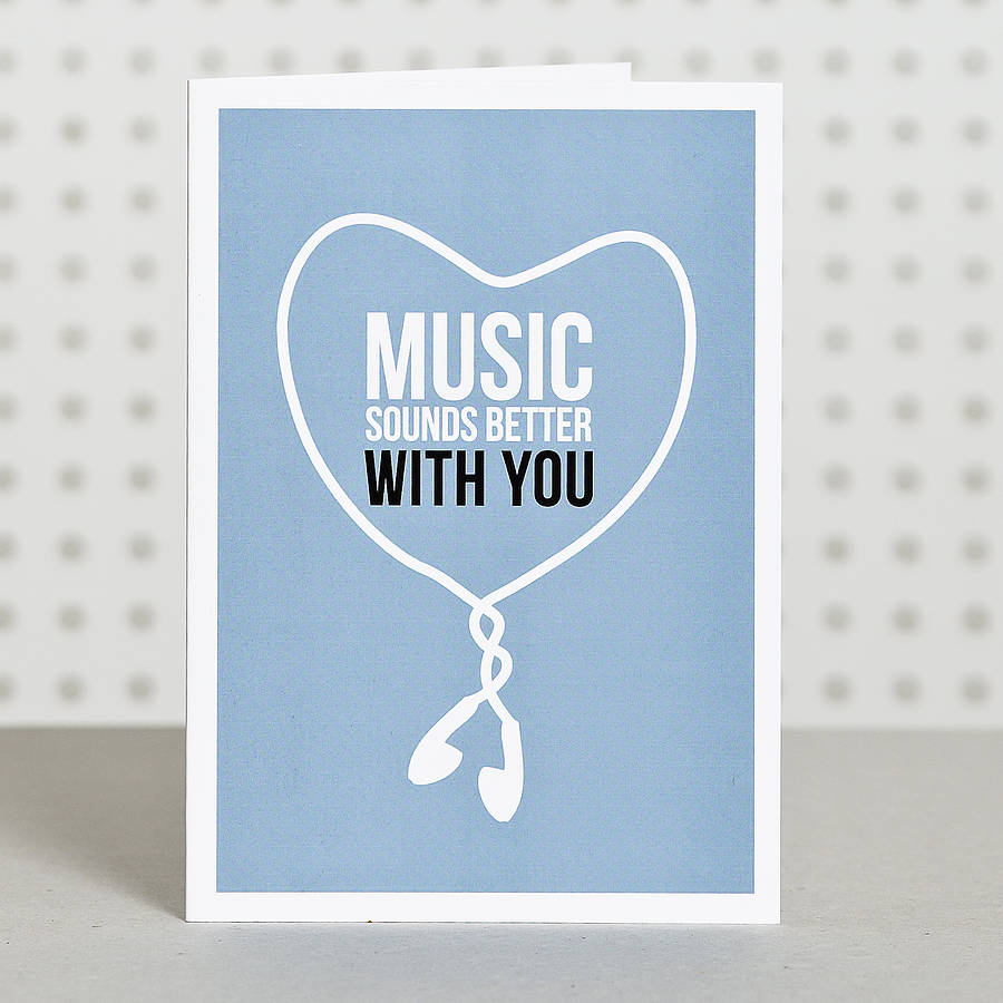 Music lover anniversary card by doodlelove notonthehighstreet music lover anniversary card m4hsunfo