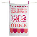 Kiss Me Quick Tea Towel web