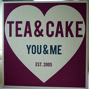 'Tea & Cake You & Me' Love Card - wedding cards & wrap
