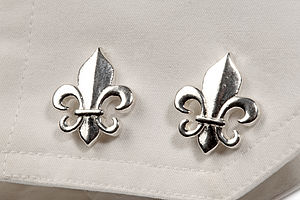 Fleur De Lys Cufflinks - men's jewellery