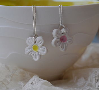 Porcelain Flower Necklace