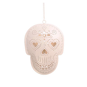 Skull Hanging Tealight Holder - lighting