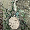 Thumb personalised heart carved in wood