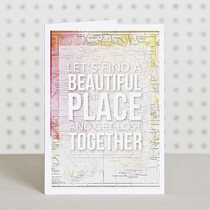 'Let's Find A Place' Anniversary Card - wedding, engagement & anniversary cards