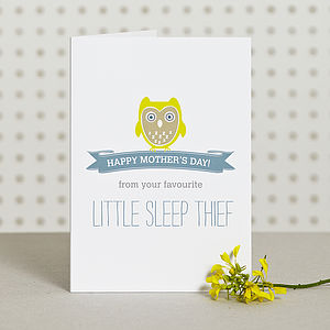 Sleep Thief Mothers Day Card - view all mother's day gifts