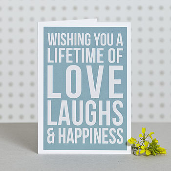 'Lifetime Of Happiness' Card