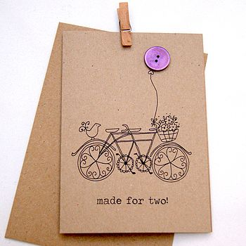 'Made For Two!' Button Box Card