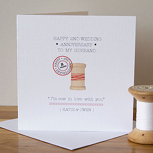 Personalised Second Anniversary Card - shop by occasion