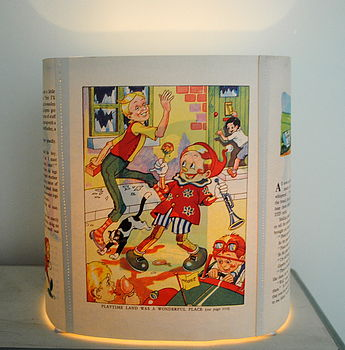 Child's Vintage Pinocchio Book Lampshade