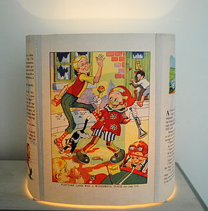 Child's Vintage Pinocchio Book Lampshade - living room