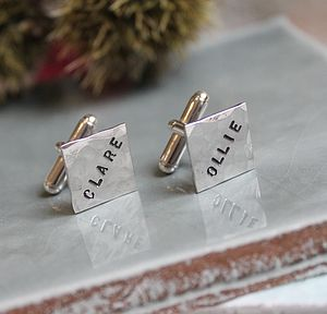 Personalised Square Cufflinks - children's accessories