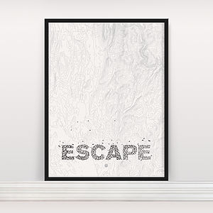 'Escape' Screen Print