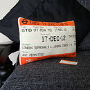 'Personalised Date' London Travelcard Cushion