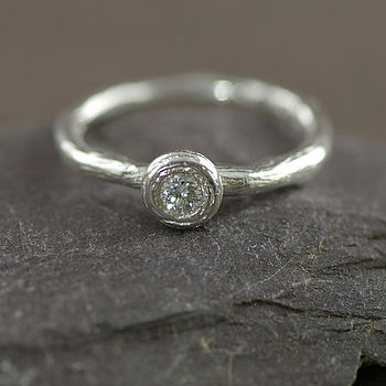 Silver And Cubic Zirconia Ring