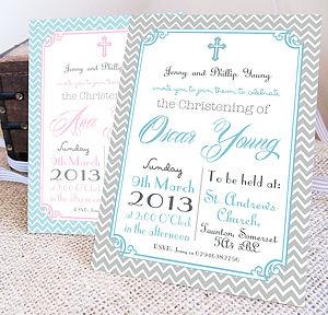 Personalised 'Christening' Invitations - christening invitations