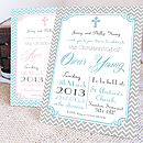 Personalised 'Christening' Invitations