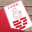 Personalised 'My Cup Of Tea' Valentines Day Card