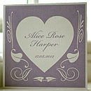 Personalised New Baby Deco Heart Card