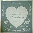 Personalised Christening Deco Heart Card