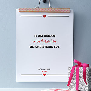 Personalised 'It All Began…' Couple's Print - anniversary gifts
