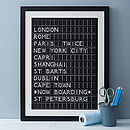 Thumb personalised aiport destination board print