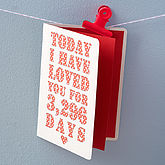 Personalised Days I've Loved You Card - anniversary gifts