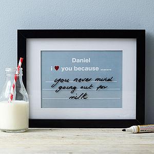 Framed Personalised Changeable Message Print - for your other half
