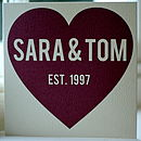 Personalised Big Red Heart Card