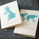 Personalised Destination Map Card