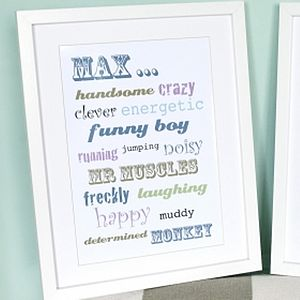 Personalised Child's Word Art