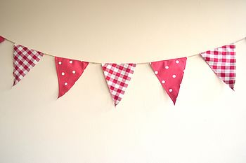 Gingham And Spots Bunting