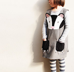 Girls Badger Play Dress Costume