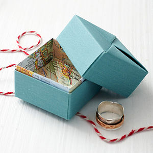 Personalised Origami Map Box - men's jewellery