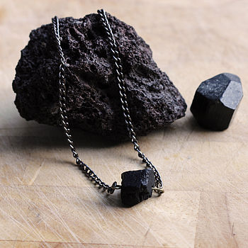 Asteroid Belt Tourmaline Stone Necklace