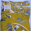Cornish Harbour Limited Edition Linoprint
