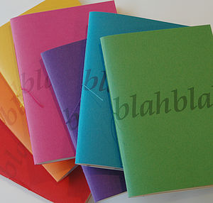 'Blah Blah' Personalised Notebook - beautiful brights