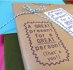 Handmade 'Great Present! Wrap Set - wrapping paper