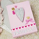 Personalised Baby Girl Canvas Picture