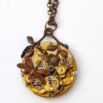 Handmade Vintage Style Dragonfly Necklace